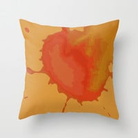 Splat on Brown - by Friztin Throw Pillow by friztin