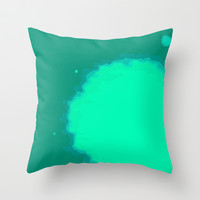 Splat on Teal - by Friztin Throw Pillow by friztin