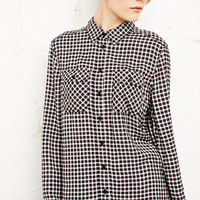BDG Longline Shirt in Tartan Print at Urban Outfitters