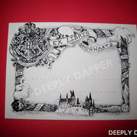 15 Magical Ex Libris Bookplates - Library Label Gift Tag or Party Place Card