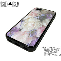Soft Grunge Floral Art Apple iPhone Case Cover Skin Design 4 4S 5 5S 5C S4 SIV