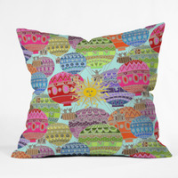 Sharon Turner Candy Sky Throw Pillow