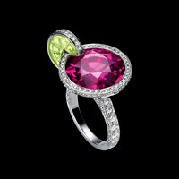 White Gold Pink Tourmaline Ring G34LM500 - Piaget Luxury Jewelry Online
