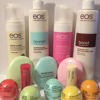 EOS LIP BALM SMOOTH SPHERE, SMOOTH STICK, SHAVE CREAM, HAND & BODY LOTION
