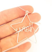 wish star ornament gift tag decoration wine bottle decoration christmas tree ornament