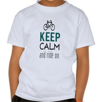 Zazzle Unisex Keep Calm And Ride On Kids Tee