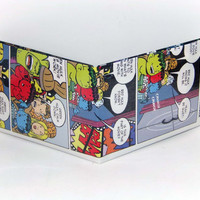 Black Friday, Shop Local Saturday, and Cyber Monday Sale// Comic Book Wallet// Green, Red, and Blue Hulk