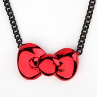 Onch x Hello Kitty Necklace: Candy Chrome Bow
