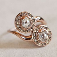 Meredith Kahn Bridal Rose Cut Two Diamond Delane Ring