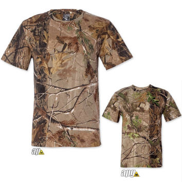 Realtree Camouflage Mens T-Shirt S M L XL 2XL Hunting AP or APG Camo 3980