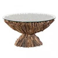 Round Driftwood Coffee Table | Tables | Garden | Modern Contemporary Furniture