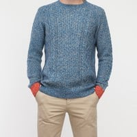 Native Youth / Contrast Cuff Cable Knit Blue