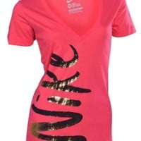 Nike Women's Sidekick V-Neck Shirt-Pink