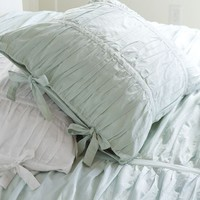 HADLEY RUCHED DUVET COVER & SHAM - BLUE