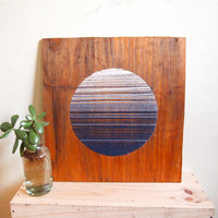 Moonrise Textile and Wood Art