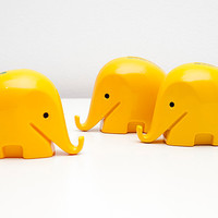 Vintage Retro Colani Dresdner Bank money box Elephant - Yellow with logo