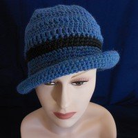 Hand Crocheted Blue Mist Hat