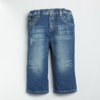 BABY Blue Wash Denim Straight Leg Jeans