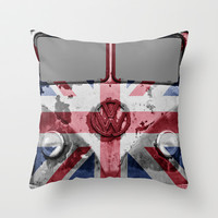 VW Rusty British Throw Pillow by Alice Gosling