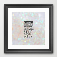 Today Framed Art Print by Olivia Joy StClaire