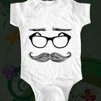 Mustache Glasses and Eyebrows 01 Cool Shirt by happylittlekids