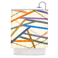 "Pom Graphic Design ""Unparalleled"" Shower Curtain"