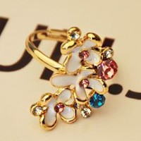 Colorful Flower Bushes Ring (Adjustable)