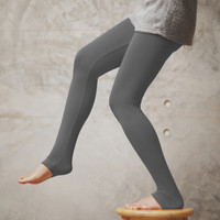 Steel Grey - Leg warmer winter leggings