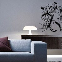 Butterfly Girl Sticker - Moon Wall Stickers