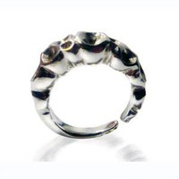 Medium Organic Sterling Silver Bubble Ring | Aiyna Singh
