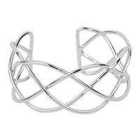 Silver Intertwined Cuff Bracelet