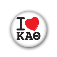 I Heart Kappa Alpha Theta Spirit Button
