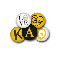 Kappa Alpha Theta Sorority Button Set