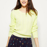 Neon Plated Cable Sweater