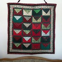 Handmade Quilted Christmas Countdown Wall Hanging Design #1