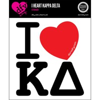 I Heart Kappa Delta Sticker
