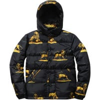 Supreme: Lions Puffy Jacket - Black