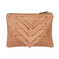 Ricco Duo Leather Pouch (Taupe)