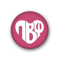 Pi Beta Phi Sorority Spirit Button - Heart