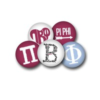 Pi Beta Phi Sorority Button Set