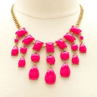 BEADED TEARDROP SHORT NECKLACE