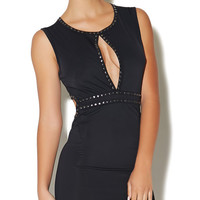 Studded Cutout Mini Dress | Arden B.
