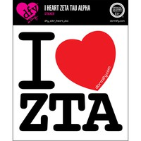 I Heart Zeta Tau Alpha Sticker