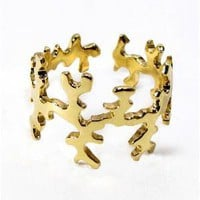 CORAL RING in 18k gold | Arosha Luigi Taglia
