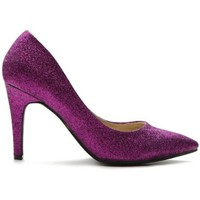 Ollio Women's Glitter Shoe High Heel Multi Colored Pump