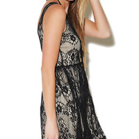 Scroll Lace Tank Skater Dress | Wet Seal