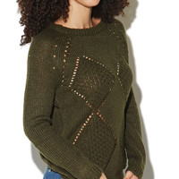 Diamond Stitch Pullover Sweater | Wet Seal
