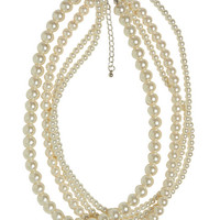 Multi-Strand Faux Pearl Necklace | Wet Seal