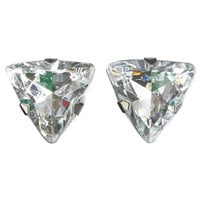 Large Triangle Rhinestone Earring | Wet Seal