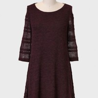 Clifton Hill Sweater Dress In Aubergine